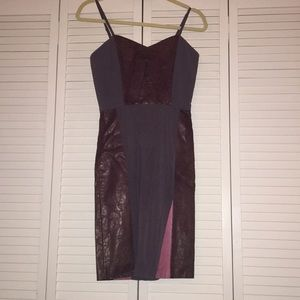 Alice and Olivia Strapped Cocktail Dress